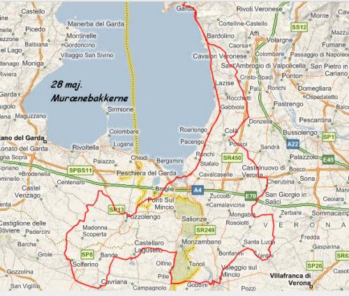 Gardasøen kort